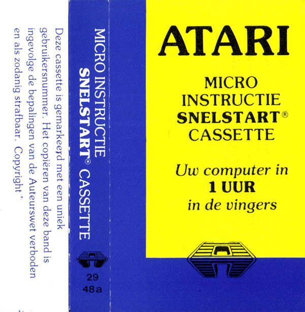 Atari Home Computer Audio Training/Snelstart_cass.jpg
