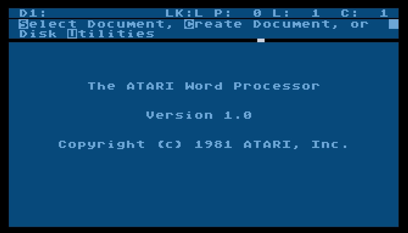 Atari Word Processor/The Atari Wordprocessor 1.0.jpg