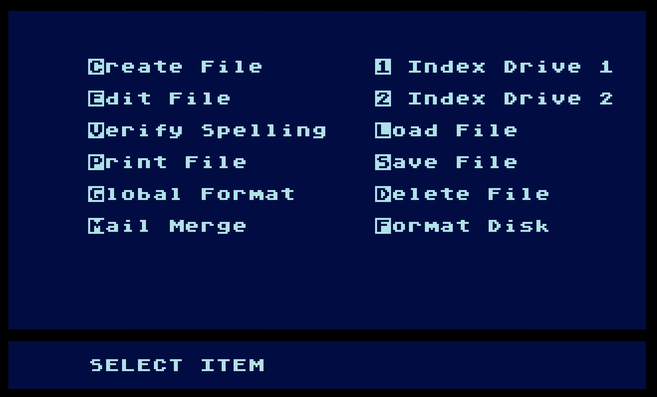 Atari Writer/Atari_Writer_Plus_with_Proofreader_Main_Menu.jpg