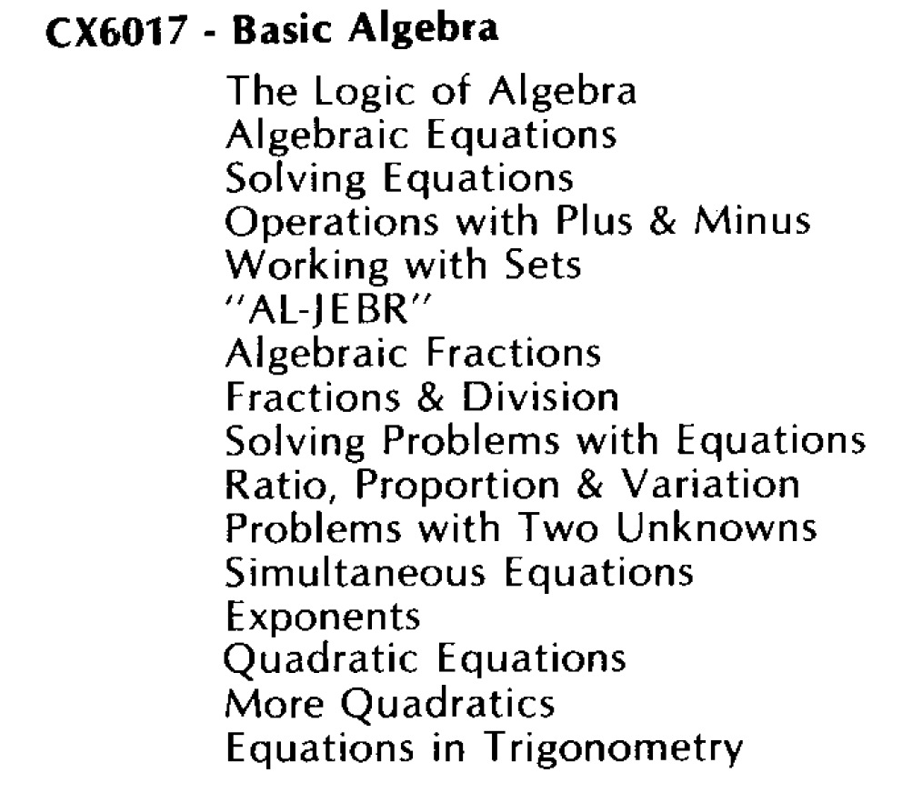 Basic Algebra CX6017/Basic Algebra CX6017.jpg