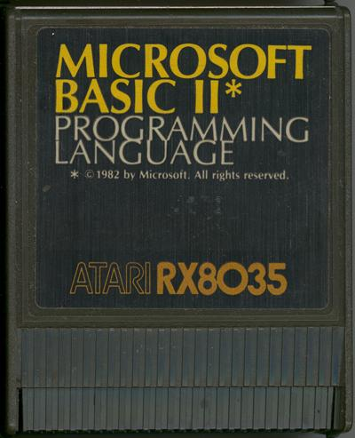 Microsoft Basic II/Atari Microsoft BASIC II Cartridge.jpg